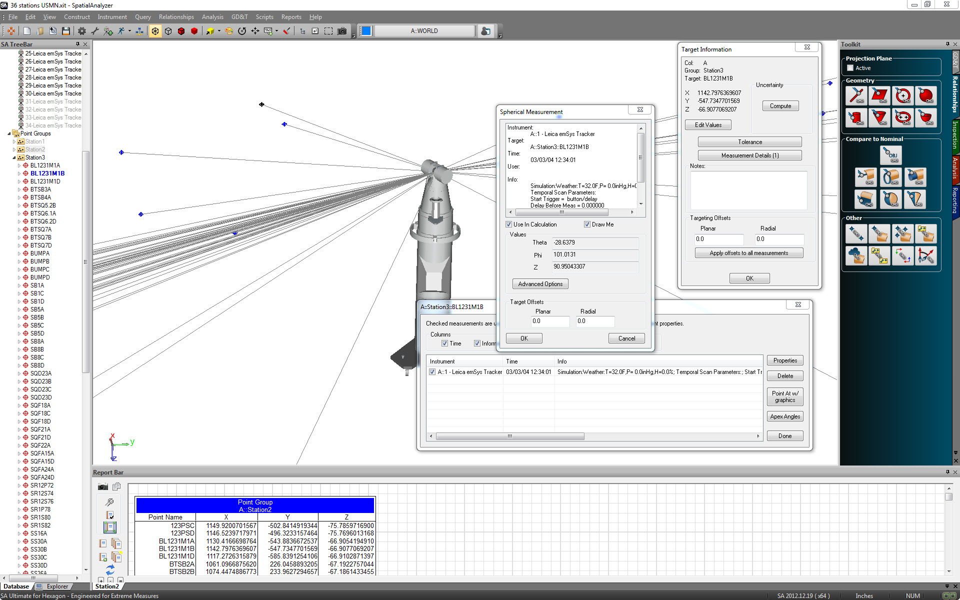 SpatialAnalyzer Packages | New River Kinematics